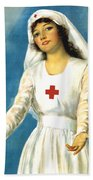 Red Cross Nurse - Ww1 Beach Towel
