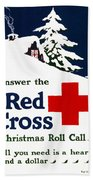 Red Cross Poster, C1915 Beach Towel