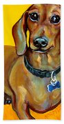 Red Dachshund - Tigger Smiles Beach Towel