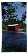 Red Dam In Summer #2 Beach Towel
