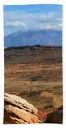 Red Desert With La Sal Mountains Beach Towel