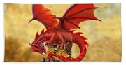 Red Dragon's Treasure Chest Beach Towel