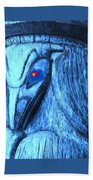Red Eyed Raven Beach Towel