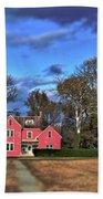 Red Farm House Beach Towel