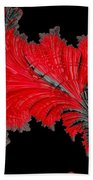 Red Feather - Abstract Beach Towel