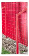 Red Fence Beach Towel