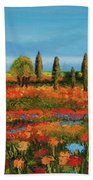 Red Field Beach Towel