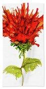 Red Flower 2 Beach Towel