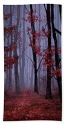 Red Forest 2 Beach Towel