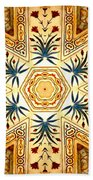Red Fort Mosaic Beach Towel