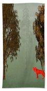 Red Fox Forest Beach Towel