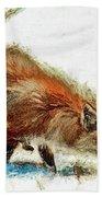Red Fox Painted Series Beach Towel