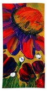 Red Garden Beach Towel