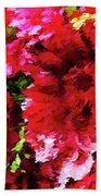 Red Gerbera Daisy Abstract Beach Towel
