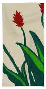 Red Ginger Beach Towel