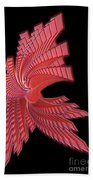 Red Glass Abstract Beach Towel