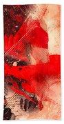 Red Gloves Beach Sheet