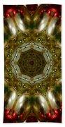 Red Gold Kaleidoscope 1 Beach Sheet