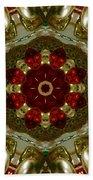 Red Gold Kaleidoscope 2 Beach Towel