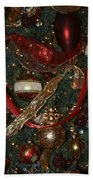 Red Gold Tree No 1 Fashions For Evergreens Event Hotel Roanoke 2009 Beach Towel