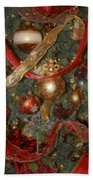 Red Gold Tree No 2 Fashions For Evergreens Event Hotel Roanoke 2009 Beach Towel