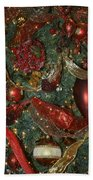 Red Gold Tree No 3 Fashions For Evergreens Event Hotel Roanoke 2009 Beach Towel