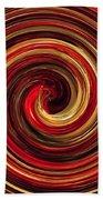 Have A Closer Look. Red-golden Spiral Art Beach Towel