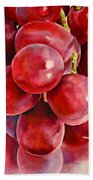 Red Grape Reflections Beach Towel