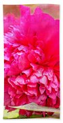 Red Haired Lady Beach Towel