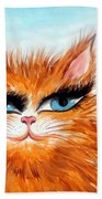 Red-haired Sofia The Cat Beach Towel