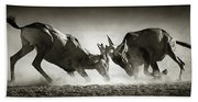 Red Hartebeest Dual In Dust Beach Towel