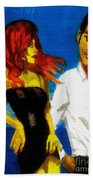 Red Head Looking For Mr Right  Beach Towel