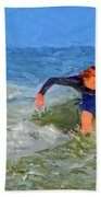 Red Headed Surfer Beach Towel