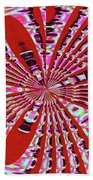Red Heavy Screen Abstract Beach Towel
