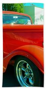 Red Hot Rod Beach Towel