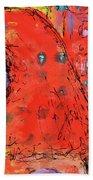 Red Hot Summer Girl Beach Towel