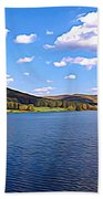 Red House Lake Allegany State Park Expressionistic Effect Beach Towel