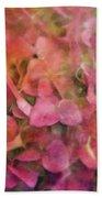 Red Hydrangea 2421 Idp_2 Beach Sheet