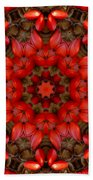 Red Kaleidoscope No. 1 Beach Towel