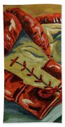 Red Laces  Beach Towel