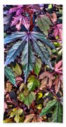 Red Leaf Hibiscus Beach Towel