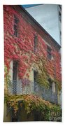 Red Leaves Of Fall Beach Towel