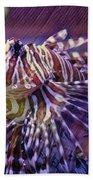 Red Lionfish Art Beach Towel