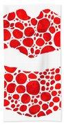 Red Lips Art - Big Kiss - Sharon Cummings Beach Sheet
