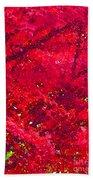 Red Maple 2 Version 1 Beach Towel