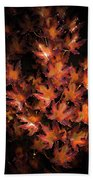 Red Maple Leaves Beach Sheet