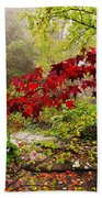 Red Maples Beach Towel