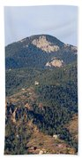 Red Mountain In The Foothills Of Pikes Peak Colorado Beach Towel