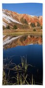 Red Mountain Reflection Beach Towel