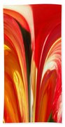 Red N Yellow Flowers 4 Beach Towel